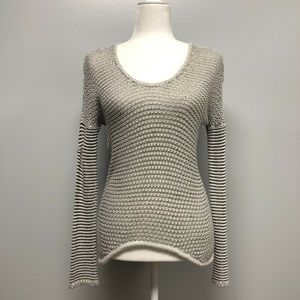 Helmut Lang Womens Sweater P Gray Open Knit